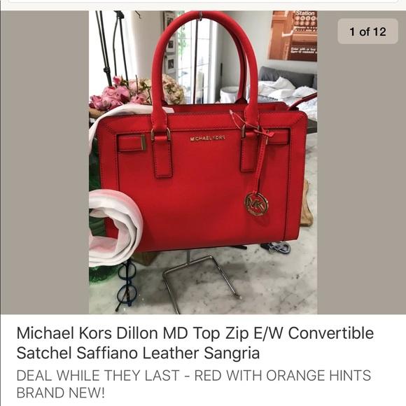 6734adde0607 Michael Kors Bags   Dillon Convertible Satchel Dk Sangria   Poshmark